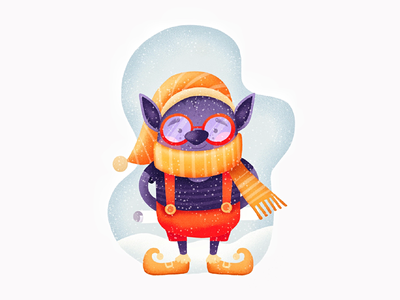 Just a Purple Christmas Elf cute procreate drawing elf christmas graphic design character design character illustration