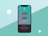 Video Death Loop UI Concept