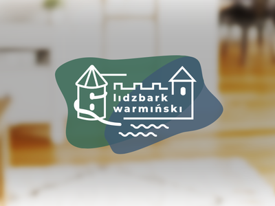 Snapchat Geofilter - Lidzbark Warmiński, PL mazury warminski lidzbark line vector design logo snapchat poland geofilter flat castle modern