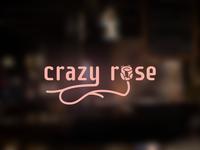 Crazy Rose - example logo design for american restaurant