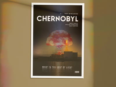 Poster #1 - Chernobyl chernobyl poster poster design poster concept nuclear power plant concept plant power nuclear poster hbo chernobyl