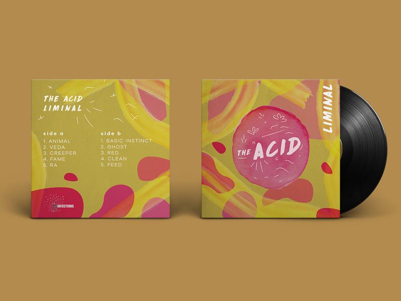 Album cover #1 - The Acid Liminal (concept) vinyl cover the acid music cover aquarelle aquarell music typography design vinyl cover album concept liminal acid the