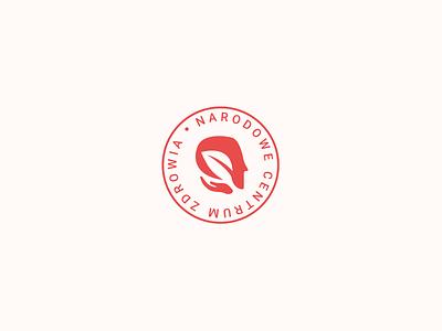 Logo concept #2 - Narodowe Centrum Zdrowia polskie polska poland natural flat simple hands hand leaves head nature logo medical care health zdrowie zdrowia centrum narodowe ngo