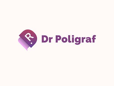 Logo concept #3 - Dr Poligraf branding vector logo design flat clean design poland polska dtp logotype gradient simple printers printer poligraf dr concept logo