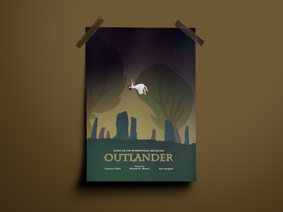 Poster #2 - Outlander gradient flat illustration illustration vector modern design scotland poster art claire minimalism minimalist flat concept tv series tv outlander poster
