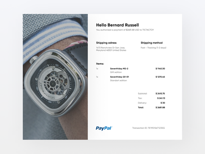 Email Receipt 017 email receipt email web design ux ui minimal daily ui
