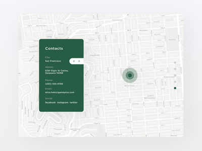Contact Us navigation map contact 028 web design ux ui minimal daily ui