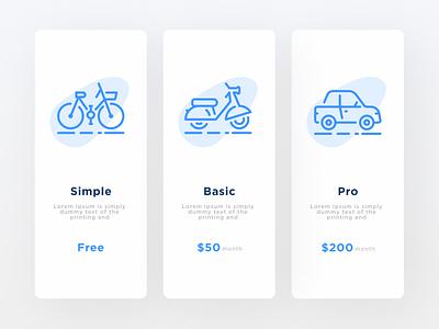 Pricing 030 banner pricing web design ux ui minimal daily ui