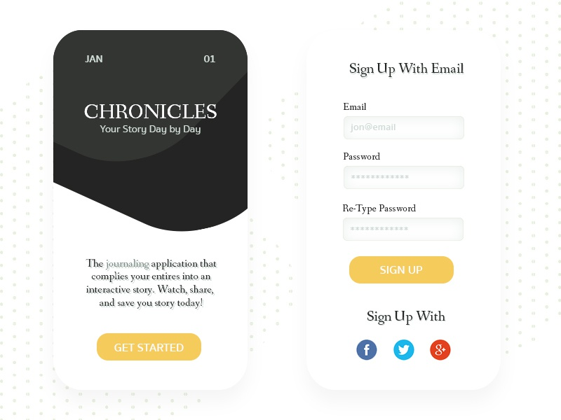 Daily Ui 001: Sign Up form mobile form ux serifs simple design minimalist mobile sign up ui daily ui