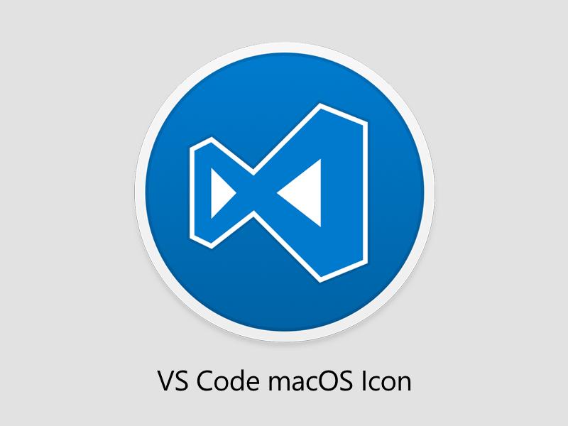 Alternative VS Code macOS Icon blue mac vector logo apple icon app vscode
