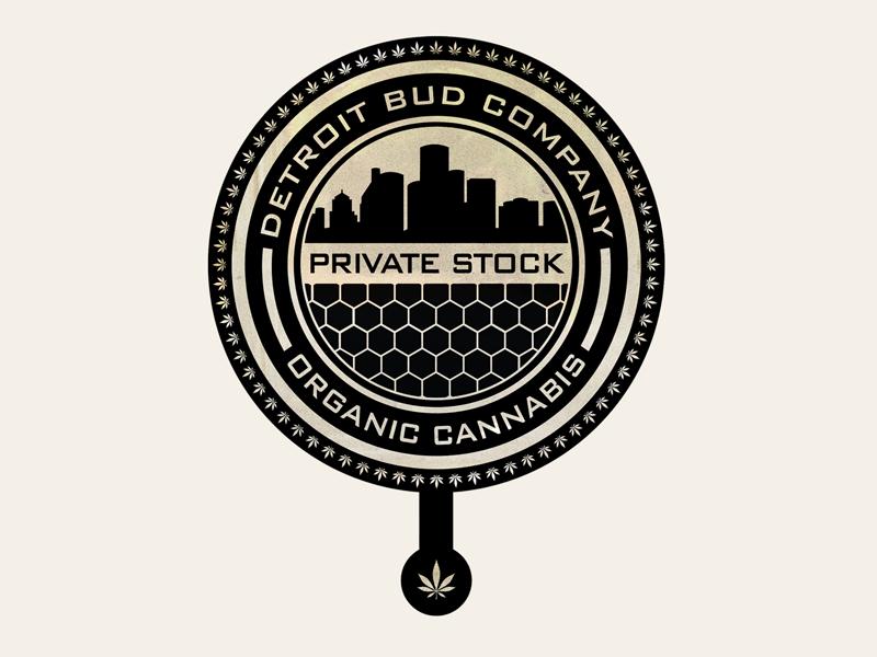 Detroit Bud Company vector packaging illustration logo design branding badge