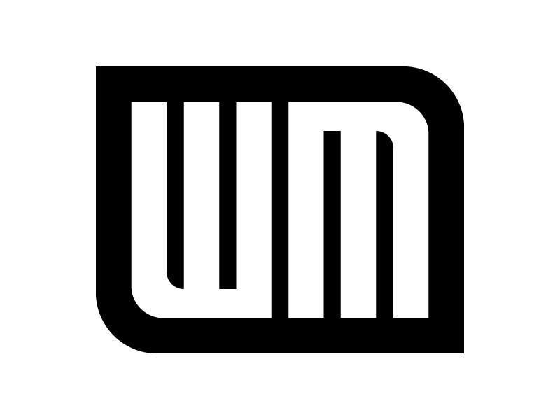 WM Branding / Logo / Badge (William McKelvey) vector logo illustrator icon flat design branding