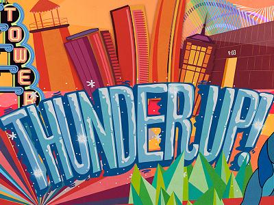 OKC graphic design nba thunder okc oklahoma vector handletter handtype illustration