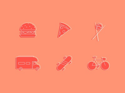 Food Traveler Icon Set