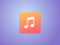 Music icon iOS7 style