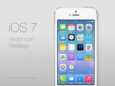 iOS 7 icons redesign ios7 ios ui iphone icon redesign vector safari ive itunes ios 7 clock app store calendar maps messages camera mail compass newsstand reminders stocks game center notes weather photos ux