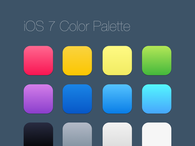 iOS 7 Color Palette