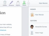 SharePad App UI