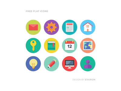 Free flat icons [included .PSD]
