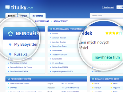 titulky.com - unofficial redesign by exarion web design subtitles portal movies redesign exarion