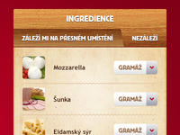 Pizza - set ingredients