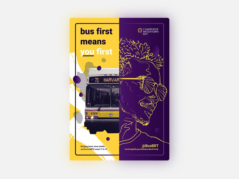 Bus first means you first illustration ad poster public transportation transportation bus color color block contrast