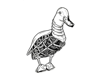 Inktober: Day 2 - Mindless automatan illustration drawing inktober2019 inktober mindless duck