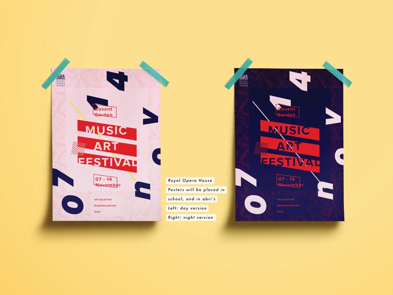 Music Art Festival style screens media social stickers app house opera royal festival art music poster