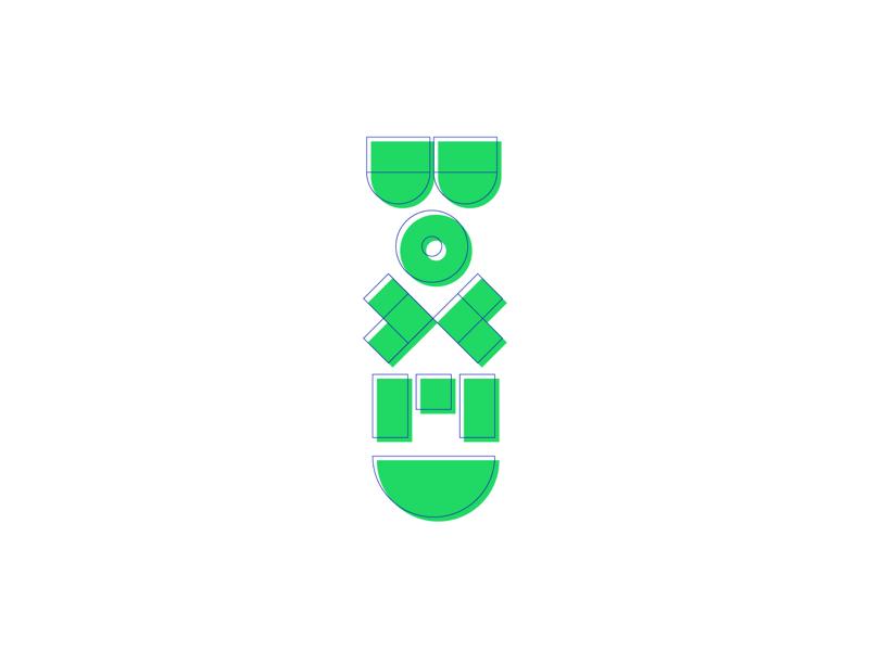 Boxed logo boxed logo minimal elements