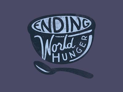 Ending World Hunger illustration nonprofit hope shirt feed my starving children fmsc