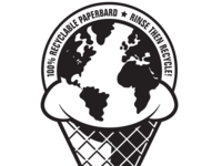 Recyclable Ice Cream Container Logo