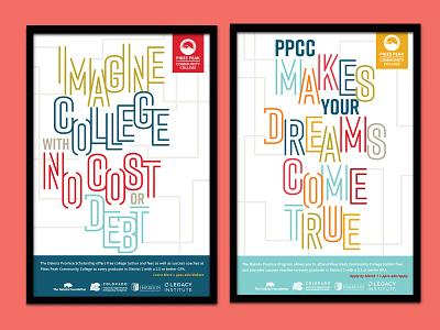 PPCC Dakota Promise Campaign print design print campaign academic higher education college university branding marketing collateral marketing campaign marketing brochure poster campaign graphic design