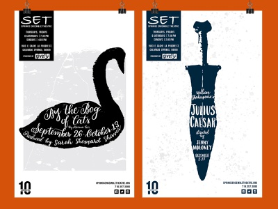 Springs Ensemble Theater Poster Set theater design local theater illustration calligraphy hand lettering art hand lettering graphic design print designer performing arts theatre poster theater poster print design poster design poster