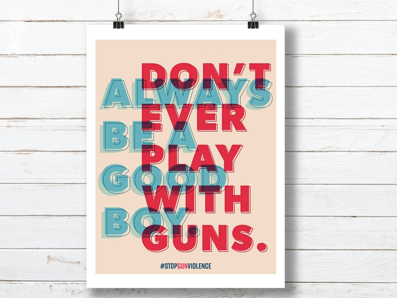 Stop Gun Violence Poster poster art political poster typographic design typography screen printing poster design poster screen print design print design graphic design