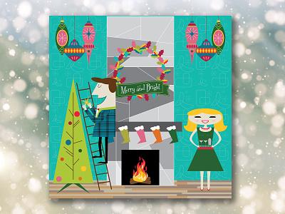 A Very Mid Century Christmas illustrators digital illustration holiday illustration holiday christmas illustration christmas mid century modern mid century illustrations illustration digital illustrator illustration