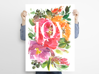 Watercolour Flower Joy Poster