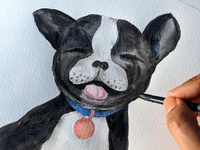 Watercolour French Bulldog