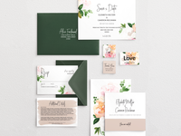 Fullblooms Cards And Envelopes Mockup