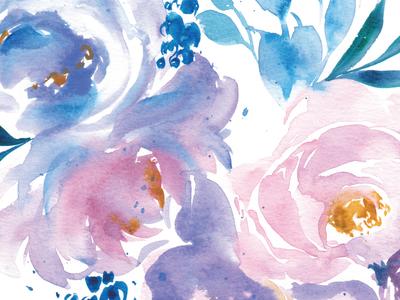 Blue Purple Florals Part 1