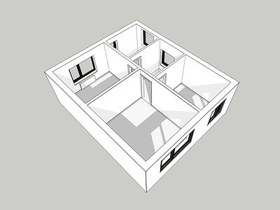 First Floor 3D Render 3d