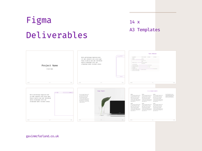 Figma Deliverables free template deliverables ux figma