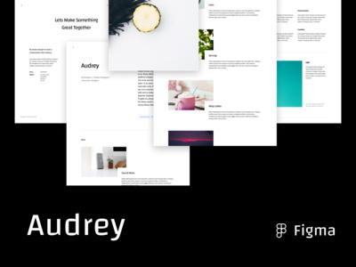 Audrey Portfolio Template