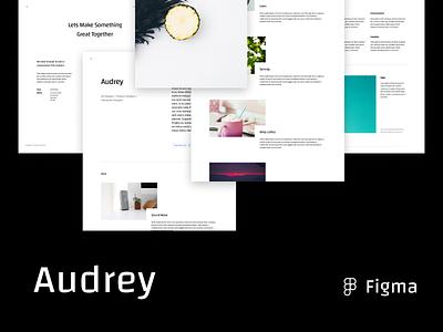 Audrey Portfolio Template minimalist template portfolio figma