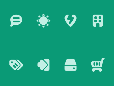 More Roundies Icons icon set solid vector icons rounded