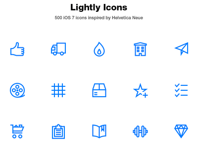 Lightly Icons: 500 ultra light ios 7 helvetica neue icon set thin ios7 ios apple vector outline icons