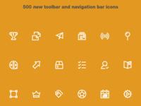 Lightly Icons: Toolbar and Navigation Bar Icons