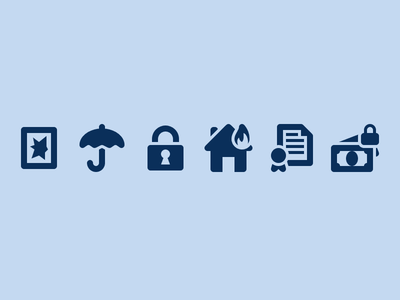 Insurance Icons icons vector insurance icon set disaster accident protection
