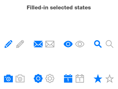 Lightly Icons: Selected States