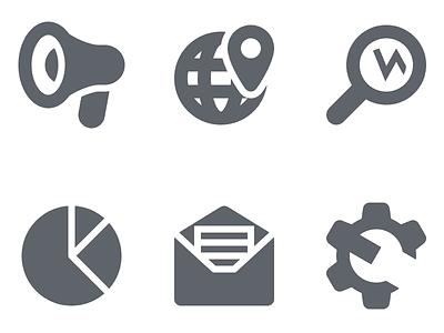 SEO and Marketing Icons icons icon set vector seo marketing