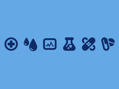 Medical and Healthcare Icons blood heartbeat pills bandaid healthcare medical vector icon set icons